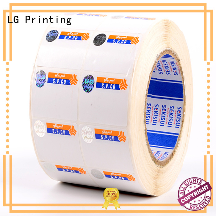 LG Printing serial hologram manufacturers in india series for bag