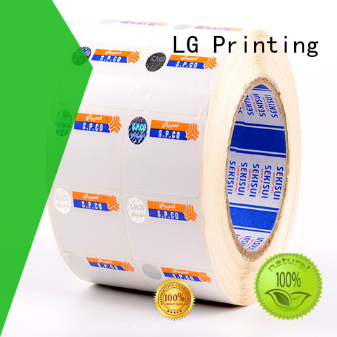 LG Printing counterfeiting anti counterfeit label supplier for bag