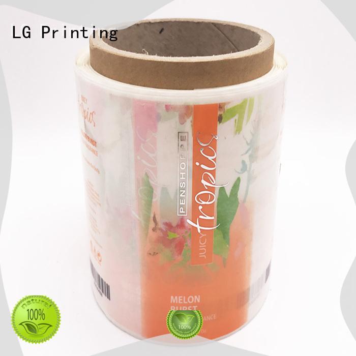 printed plastic stickers bopp manufacturer for bottle