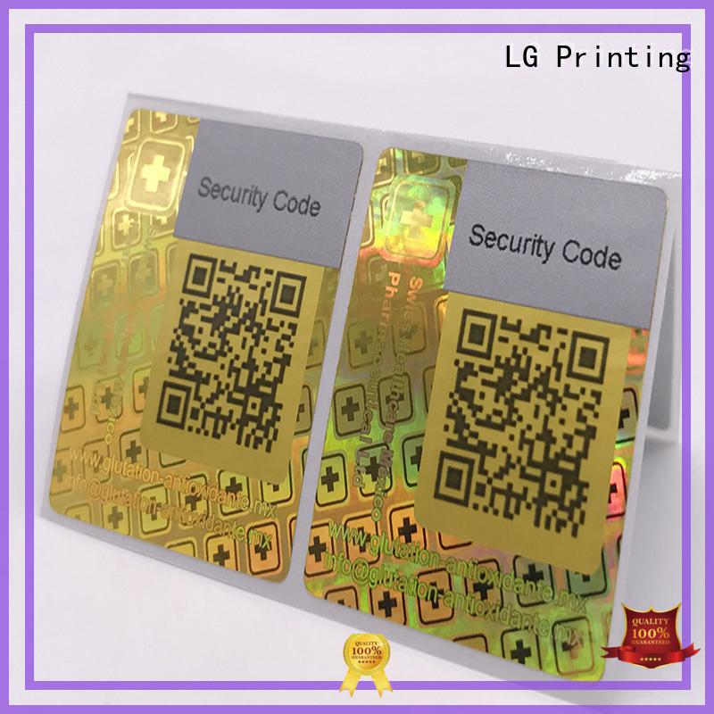 3d hologram sticker printing security customized thickness LG Printing Brand hologram sticker
