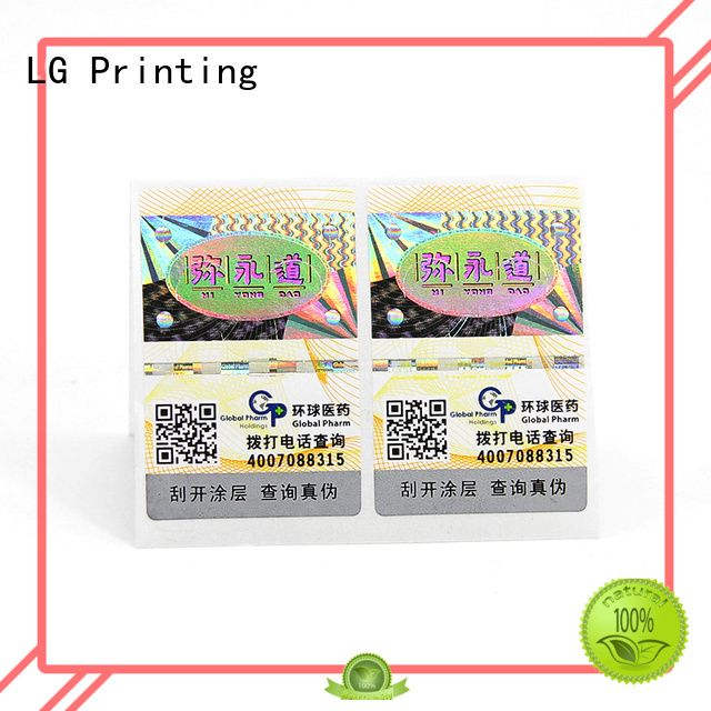 LG Printing tamper evident security labels for business for products