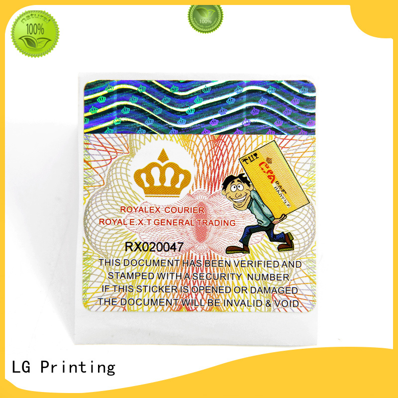 LG Printing High-quality self adhesive paper labels for business for bag