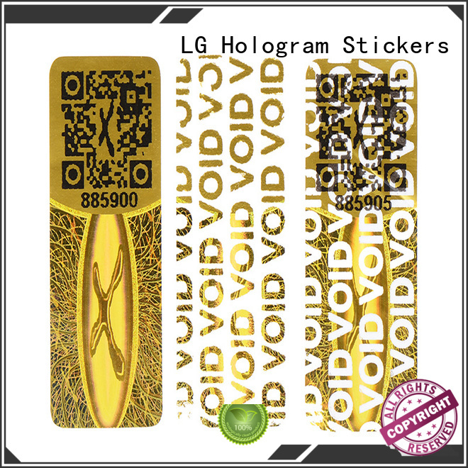 LG Printing round hologram sticker printing supplier for table