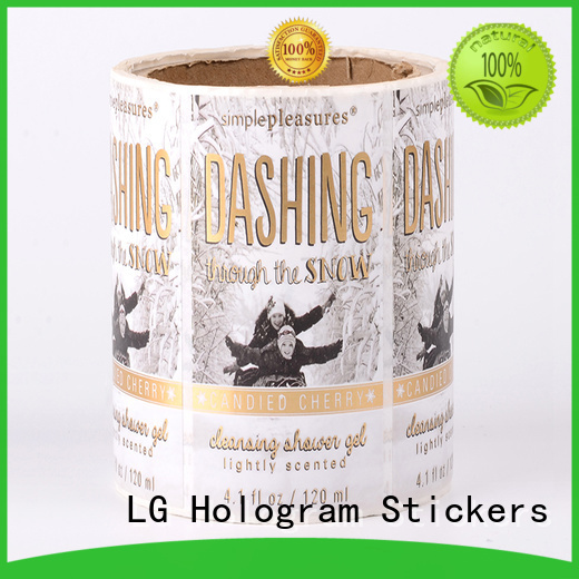 Hot metallic adhesive labels glossy wine LG Printing Brand