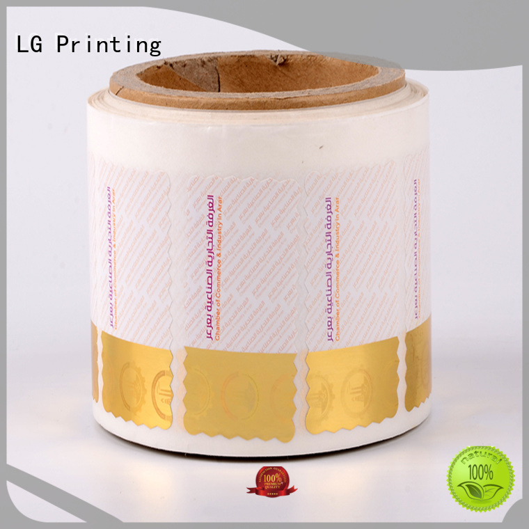 LG Printing UV security seal stickers supplier for products