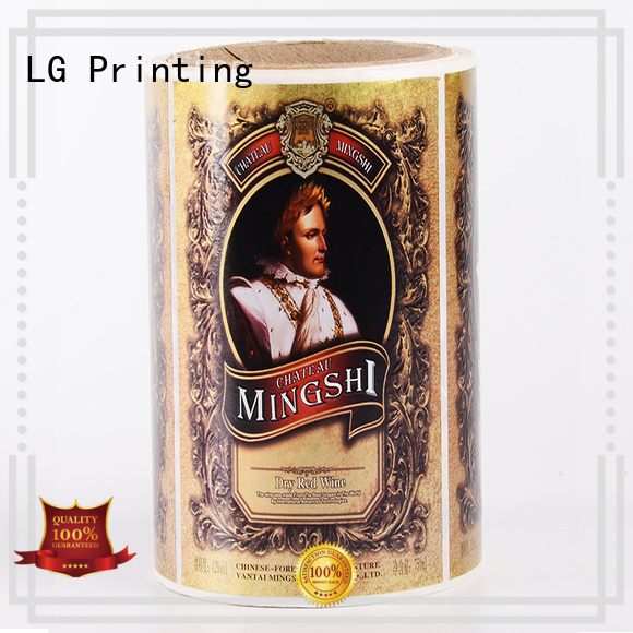 printed plastic stickers red supplier for jars