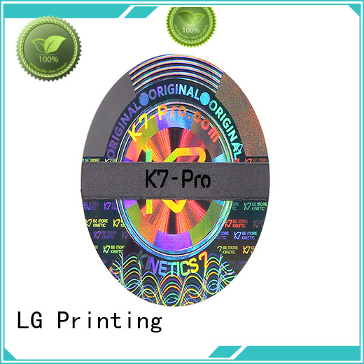 round hologram stickers custom series for box