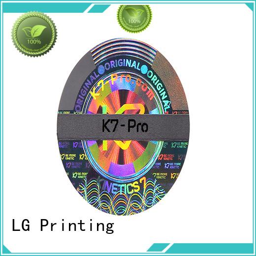 round hologram stickers custom series for box
