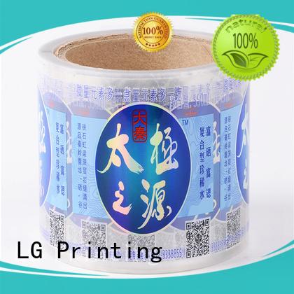 cheap sticker printing bopp for wine bottle LG Printing