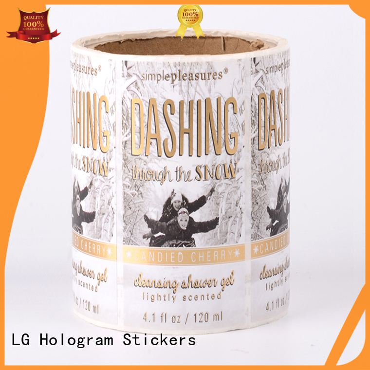 bottle printed labels LG Printing Brand self adhesive label factory