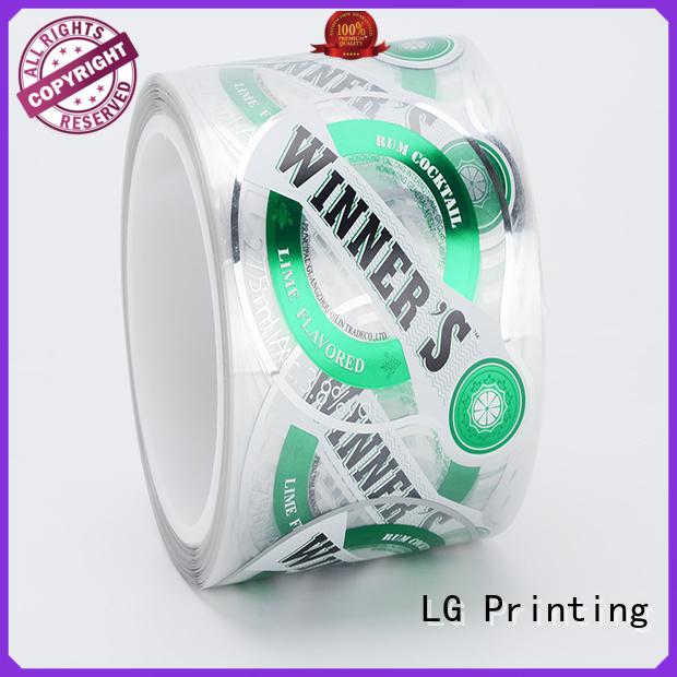 LG Printing metallic custom food packaging series for bottle