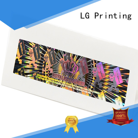 LG Printing colorful silver foil sticker paper manufacturer for box