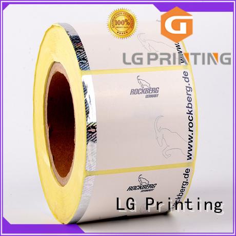 standard hologram label manufacturers silver supplier for bag