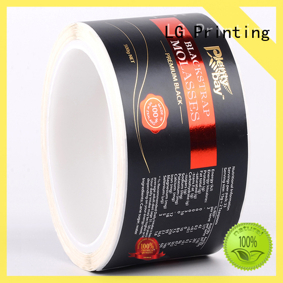 LG Printing foil custom label printing series for wine bottle
