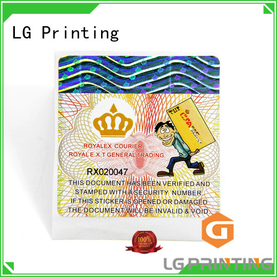 LG Printing Custom self adhesive label suppliers manufacturers for box