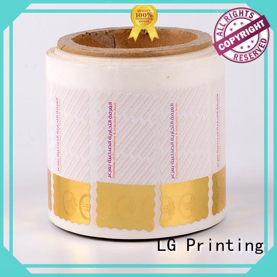 LG Printing standard security sticker printing manufacturer for goods