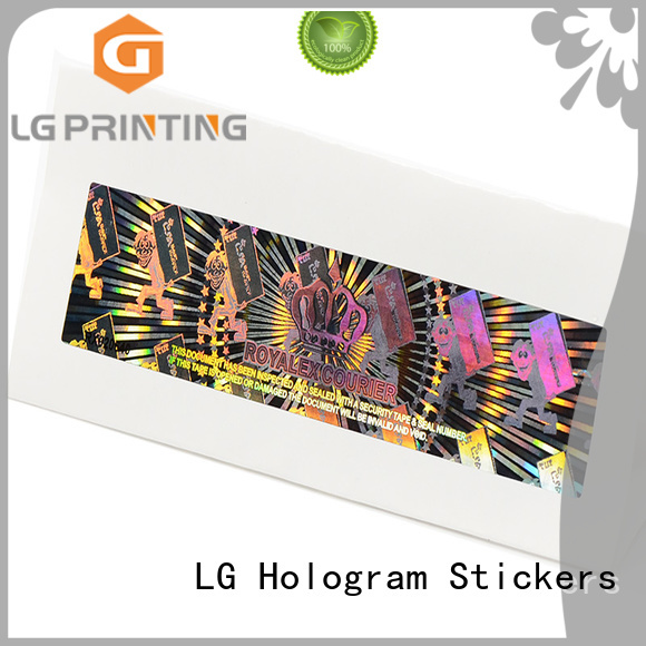 LG Printing scratched holographic vinyl stickers manufacturer for refrigerator