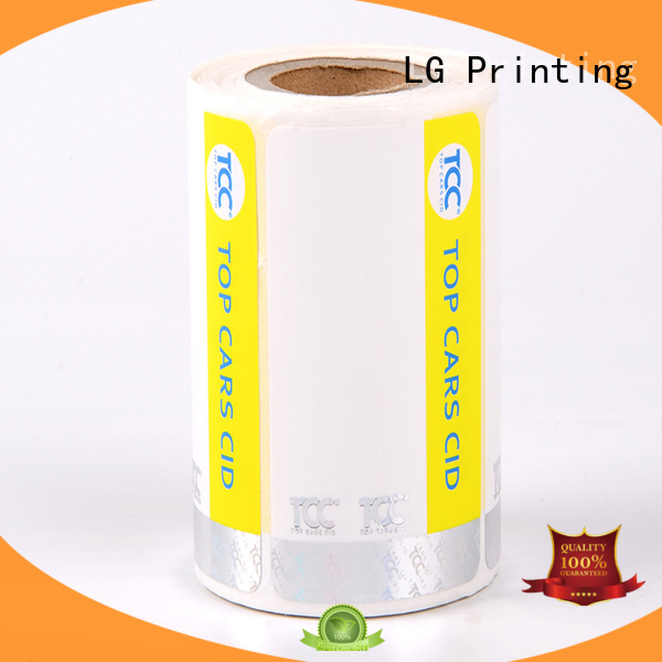 number clear security stickers factory for bag LG Printing