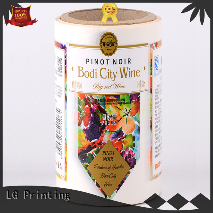 LG Printing foil custom wine labels factory for wine bottle