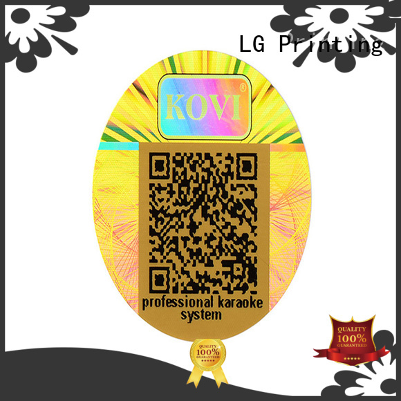 LG Printing golden hologramm sticker series for table