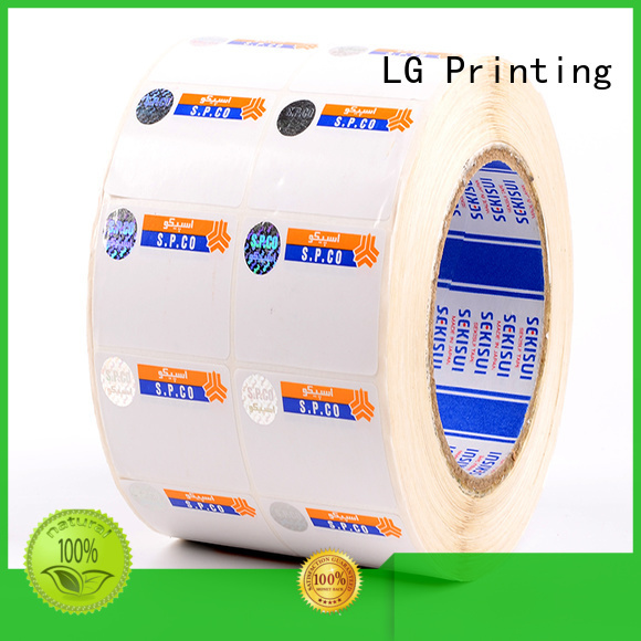 LG Printing stamping security sticker printing anti for box