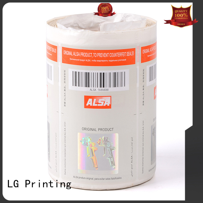 LG Printing number security sticker printing manufacturer for bag
