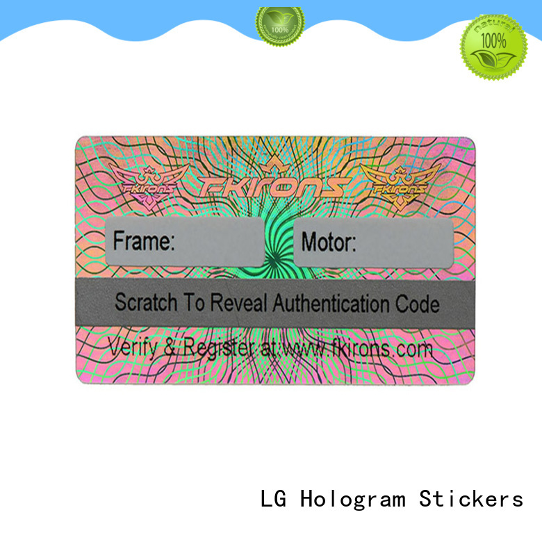 LG Printing number holographic security stickers series for box