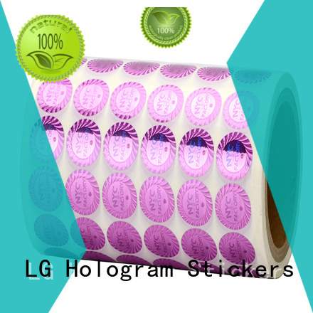 logo holographic letter stickers label for table LG Printing