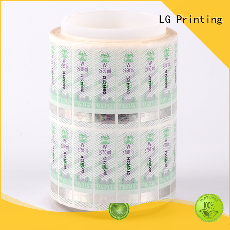 printing hologram sticker printing PE series for products