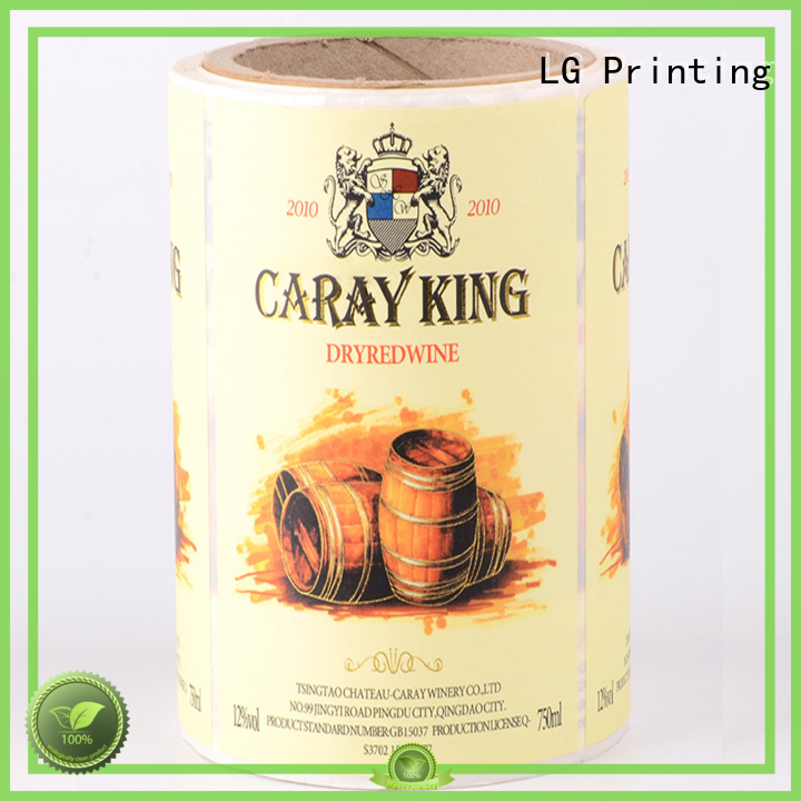 metallic bottle hologram wine self adhesive label LG Printing Brand