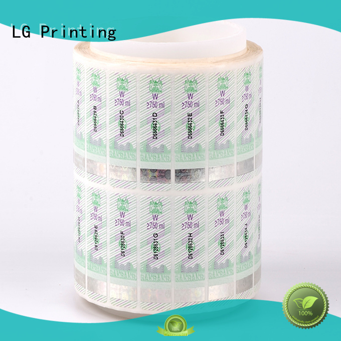 stickers positioned paper security hologram anti-fake LG Printing Brand