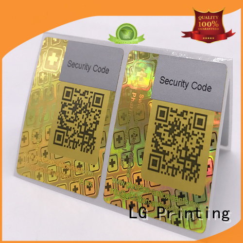 transparent hologram sticker customized thickness LG Printing company