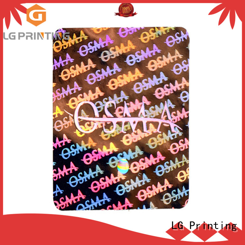 LG Printing color security labels stickers supplier for door