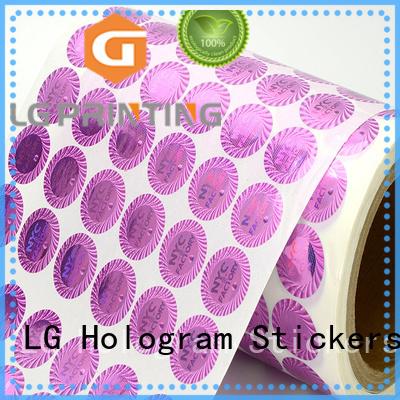 3d hologram sticker triangle printing hologram sticker rectangle LG Printing Brand
