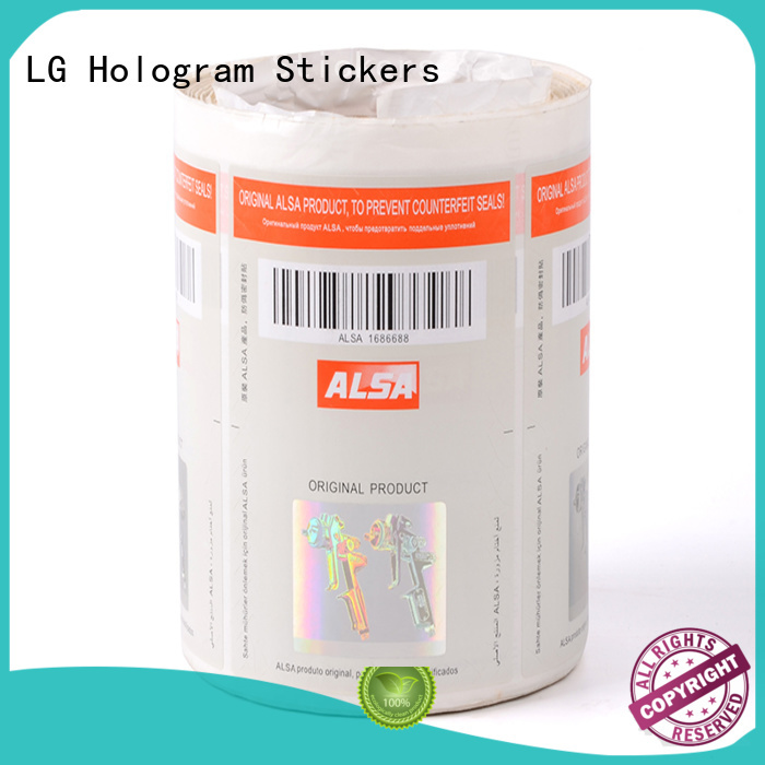 LG Printing Brand stickers serial number security hologram manufacture