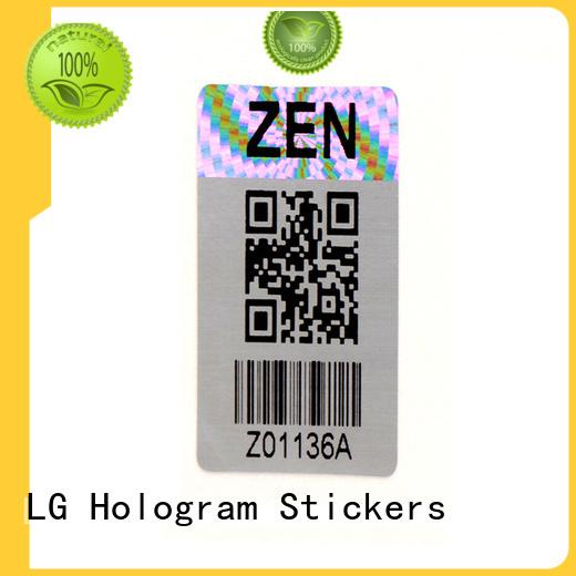 LG Printing sticker qr code hologram manufacturer for box