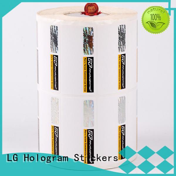 LG Printing printing security sticker printing series for bag