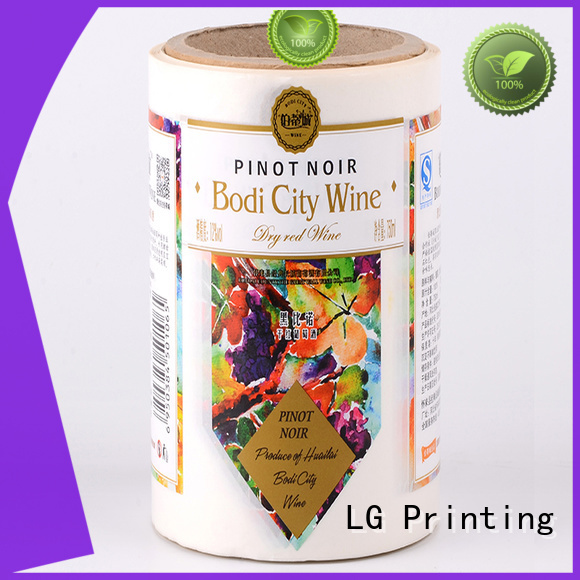 glossy sticker LG Printing Brand self adhesive label factory