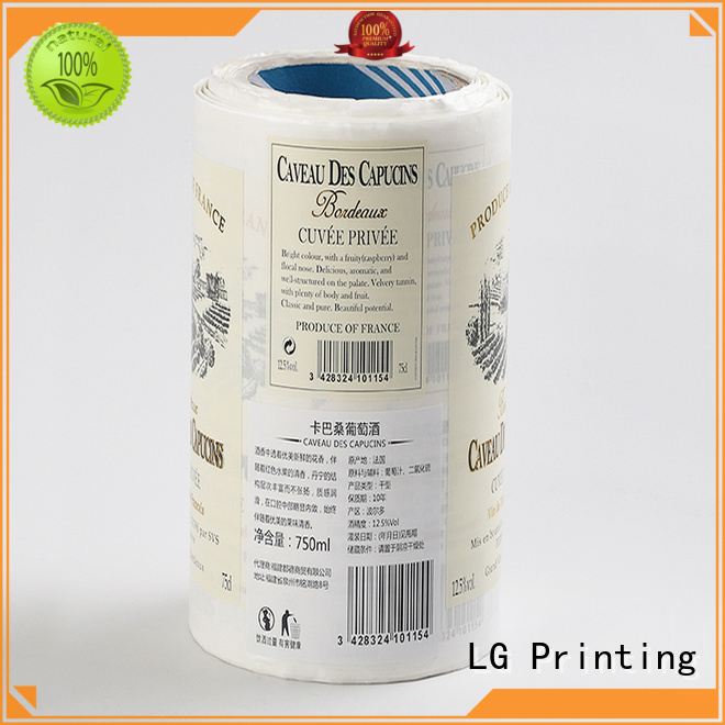transparent label company silver series for jars