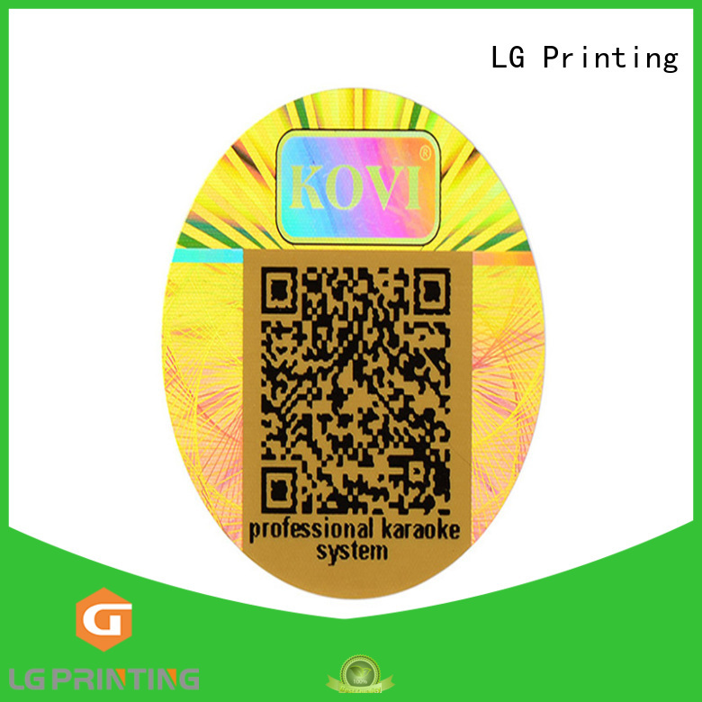 LG Printing numbering chloe hologram sticker supplier for box