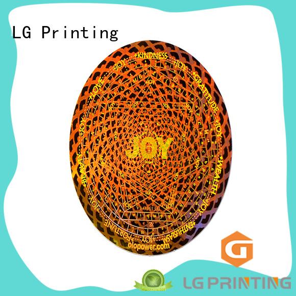 LG Printing round custom hologram label for box