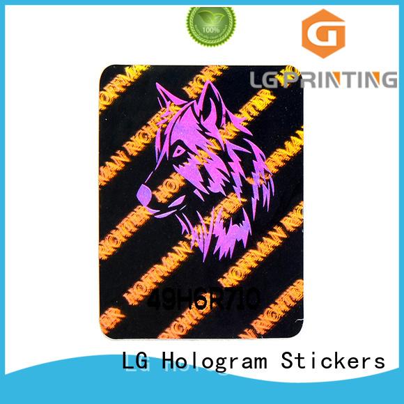 LG Printing void printer hologram sticker series for door
