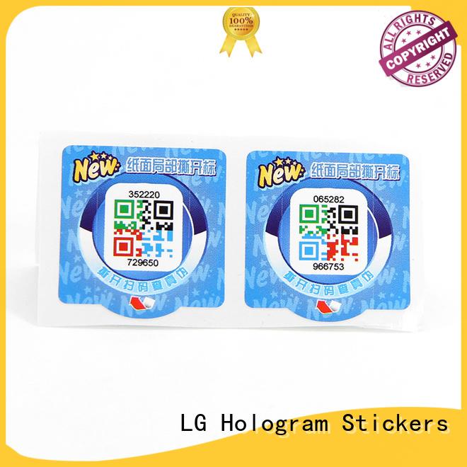 LG Printing tamper labels factory for bag