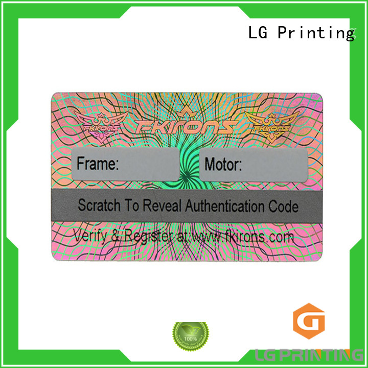 various holographic foil stickers supplier for box LG Printing
