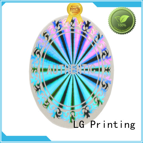 LG Printing gold stick on labels for jars supplier for box