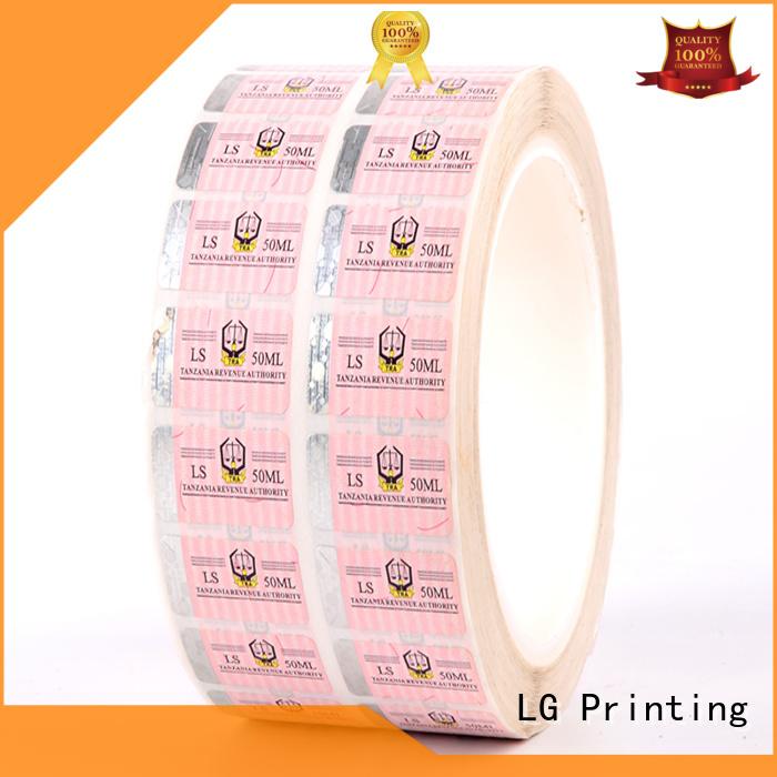 serial number anti-fake LG Printing Brand security hologram