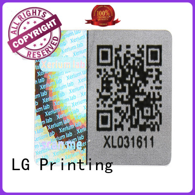 scratched holographic letter stickers supplier for door LG Printing
