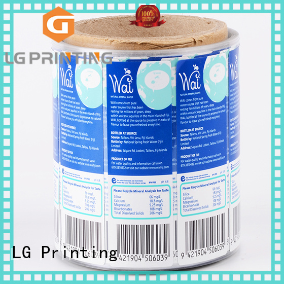 LG Printing quality custom product labels factory for cans