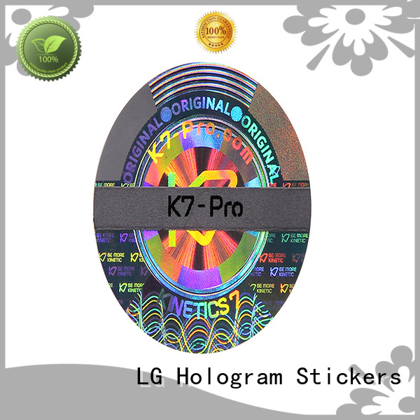 LG Printing round hologram stickers series for door