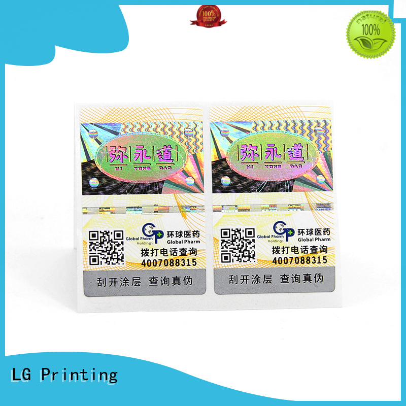 Custom how to print holographic labels factory for box